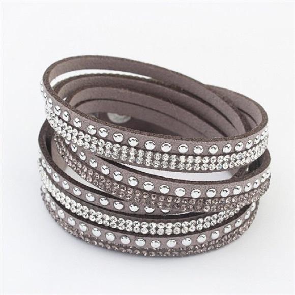 55b931cb3 Swarovski Jewelry | Slake Crystal Grey Wrap Bracelet | Poshmark